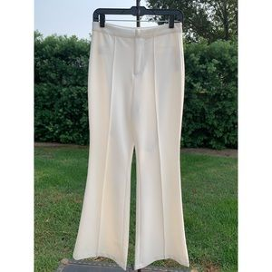 F21 white high wasted flare pants